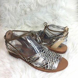 Top Shop Silver Strappy Gladiator Sandals Shoes